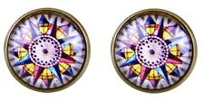 Compass Earrings Rome Direction Boho Accessories Party Cool Glass Stud Earring