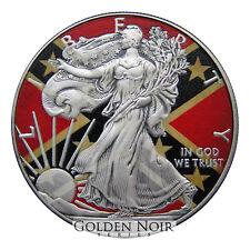1oz Silver American Eagle Confederate Flag Glow in the Dark Colorized Coin + Box