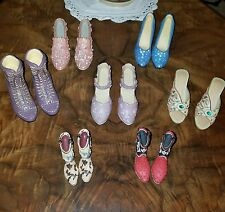 """7 HAND PAINTED PAIRS OF MODEL SHOES●FROM 1 1/2"""" TO 2"""" LONG TO 2"""" HIGH●COOL SHOES"""