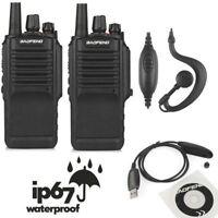 US 2x Baofeng BF-9700 UHF 16CH 1800mAh Two-way Radio Waterproof IP67 + USB Cable