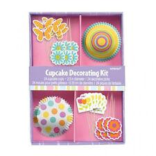 48 Piece Easter Cupcake decorating Kit cupcake cases & Decorative Picks Party