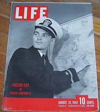 Life Magazine August 31, 1942 Ensign Gay Cover/New York City/Disney/Paul Robeson