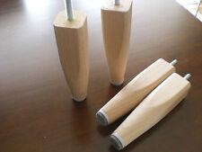 design pieds de meubles moitié conique en Bois Hêtre Nature metrisch8 h-15cm