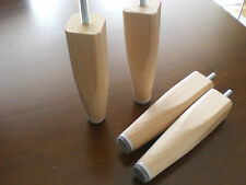 Design Möbelfüße Holzfüße BUCHE NATUR  Metrisch8 Möbelfuß H-12cm.