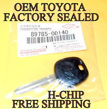 NEW ORIGINAL RUBBER TOYOTA H CHIP TRANSPONDER MASTER IGNITION KEY 89785-0D140
