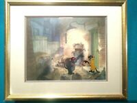 SCAT CAT, CHINESE CAT, & ROQUEFORT PRE-PRODUCTION ARISTOCATS SETUP, MINT FRAMED