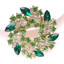 Vintage Shiny Rhinestone Flower Wedding Bridal Bouquet Brooch Pin Gifts Jewelry