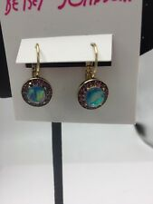 "Betsey Johnson ""You Give Me Butterflies"" Opal Faceted Stone Drop Earring BB18"
