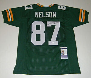 PACKERS Jordy Nelson signed custom green jersey w/ #87 JSA COA AUTO Autographed