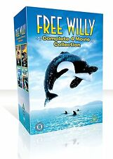 FREE WILLY - 1 2 3 &  4 box set - DVD - REGION 2 UK