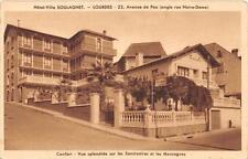 CPA 65 LOURDES HOTEL VILLA SOULAGNET AVENUE DE PAU