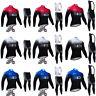 Mens Cycling Jersey Jacket Breathable Bicycle Suit Long Sleeve Bib Pants Set Kit