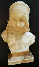Mario Pedrini Marble Sculpture Bust Girl Woman Made in Italy Signed M. PEDRINI