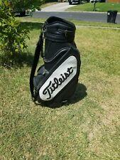 Vintage Black & White Titliest Staff Bag / Strap & Rain Hood