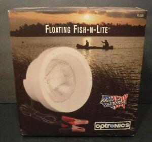 Optronics Styrofoam Floating Fish-N-Lite Night Fishing Boat Lake 12 Volt Battery