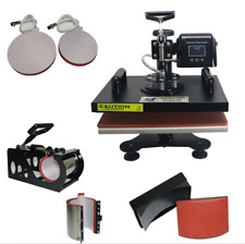 New 6 in 1 Combo Digital Multi-Funct Heat Press For T Shirt Mug Plate And Cap CE