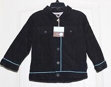 NWT Boys Rabbit Moon by Le Top Boutique Black Corduroy Fleece Lined Jacket sz 3