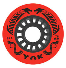 76mm x 92a (very hard) Hockey Wheels, YAK Cobra, set of 8