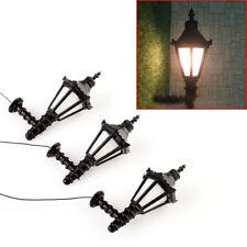 10pcs O Scale 1:50 3V Train Railway Park Led Lamppost Lamps Up Wall Lights Model