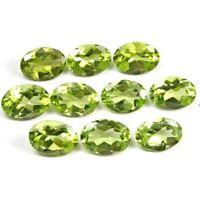 Wholesale Lot of 8x6mm Oval Facet Cut Natural Peridot Loose Calibrated Gemstone