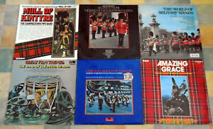 Marching Music / Military Bands vinyl LP records Job lot of 6 all graded