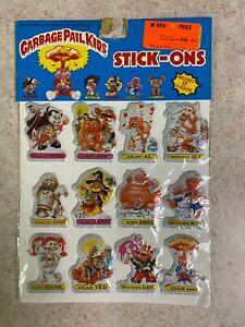 Vintage 1986 Garbage Pail Kids Sealed Imperial 12 Set Puffy Sticker Sheet NIP #4