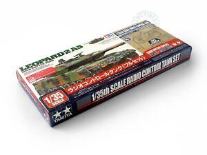 Tamiya 1/35 RC German Leopard 2 A5 Main Battle Tank Radio Control Set #48204