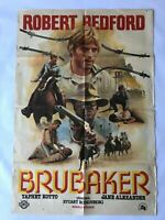 BRUBAKER 1980s Original Vintage Turkish Movie Poster VERY RARE C5 Robert Redford