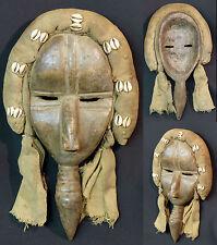 Art Africain superbe masque de main très ancien Dan côte d'ivoire porcelaine +