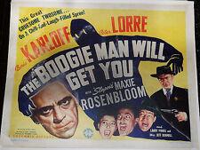 THE BOOGIE MAN WILL GET YOU! '42 KARLOFF, LORRE ORIGINAL 1/2-SHT FILM POSTER!