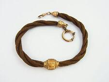 Biedermeier Uhrkette Haar Glaube Liebe Hoffnung um 1840 (D252)