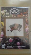 Mini Kit point de croix - Brouette fleurie - DMC - Toile + fils
