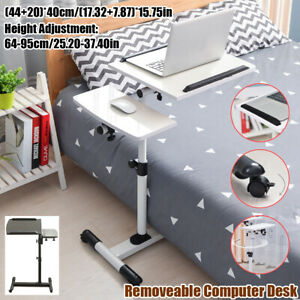 Rolling Height Angle Adjustable Laptop Sofa Desk Overbed Lift Tray Table