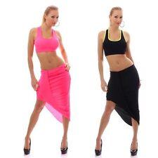 Unifarbene knielange Damen-Anzüge & -Kombinationen mit Top