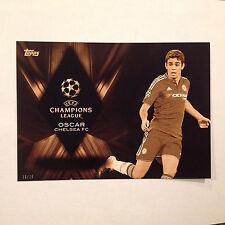 OSCAR #CP-O Chelsea FC Championship Pedigree #/10 Made 2016 Topps UEFA 5X7 GOLD