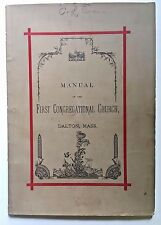 DALTON MA 1881 First Congregational Church Covenant Members List w/ Crane Family
