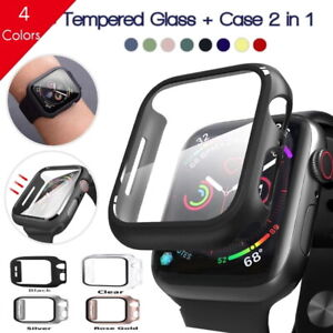2in1 Tempered glass screen protector case Apple iwatch 6/5/4/3/2/SE Size 38/42MM