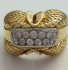 18 KARAT YELLOW GOLD DIAMOND RING - PREOWNED
