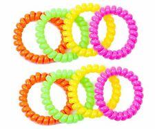 8 X Thick Spiral Plastic Elastic Wire Hair Band Bobble Ponio Bright Colour