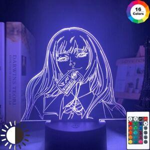 Acrylic Led Night Light Yumeko Jabami Kakegurui Cute 3D Lamp Bedroom Decor Gift