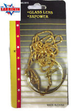 A Magnifying Glass With 5 X Power On A Gold Coloured Chain, Wear It Always