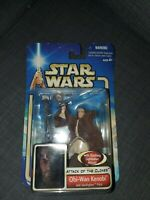 Hasbro Star Wars Attack Of The Clones Obi-Wan Kenobi Jedi Starfighter Pilot...