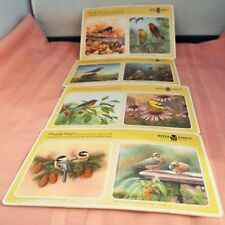 Boys Town Chipboard Coasters Wild Wings Bird Art 100 Year 8 Double-Sided