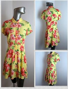 Super Cute Mini FOREVER 21 Summer Crepe Fit & Flair Shirt  Dress - Size M