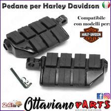 PEDANE HARLEY DAVIDSON SOFTAIL DYNA SPORTSTER CUSTOM PEDANE NERE PEDALINI M40