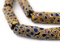 Blue Kaleidoscope Antique Matching Venetian Millefiori Trade Beads Ghana African