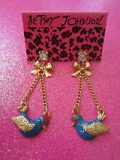 Betsey Johnson Blue Bird Dangle Earrings