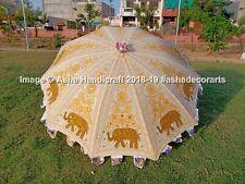 """White Indian Cotton Sun Umbrella Patio Beach Party Outdoor Garden Parasol 90x70"""""""
