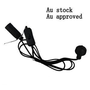 Free 2 X E14 15w globe 2 x black knob Salt Lamp power cord Au approved 1.8M