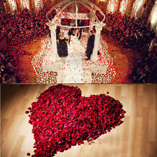 1000 Red Silk Rose Petals Confetti Flower Wedding Celebration Decorations